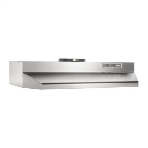 "Broan24"", Stainless Steel, Under-Cabinet Hood, 190 CFM"
