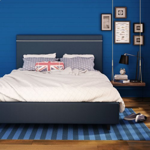 Breeze Upholstered Bed (rope) - Queen