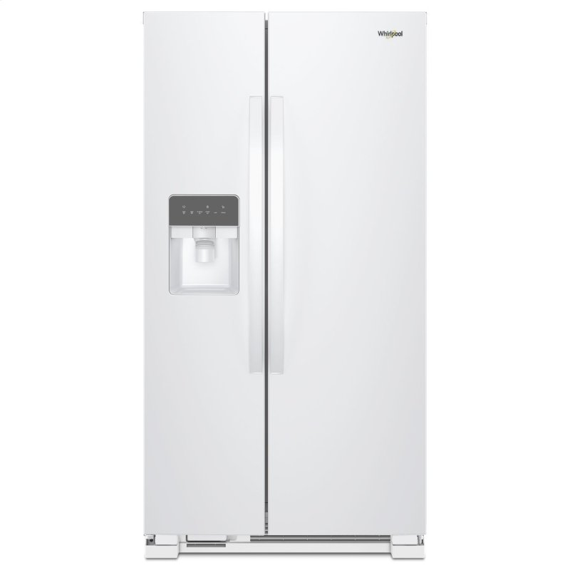 33-inch Wide Side-by-Side Refrigerator - 21 cu. ft. White