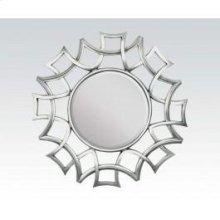 "Silver Accent Mirror, 40""d"