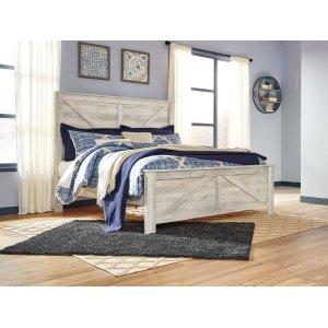 Ashley Furniture Bellaby - Whitewash 3 Piece Bed Set (King)