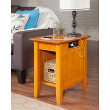 Nantucket Chair Side Table with Charger Caramel Latte