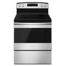 30-inch Electric Range with Self-Clean Option - Black-on-Stainless