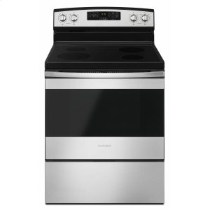 30-inch Electric Range with Self-Clean Option - Black-on-Stainless -