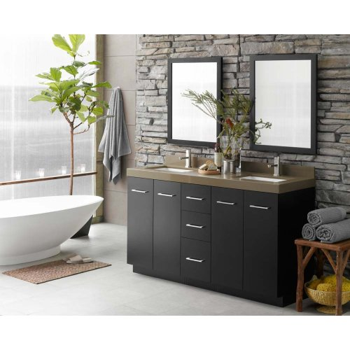 "Arden 24"" Eco-Friendly Bathroom Vanity Cabinet Base in Black"