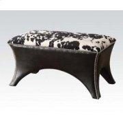 Black Pu Bench W/fabric Seat Product Image