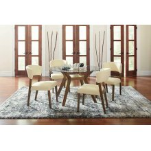 Paxton Mid-century Modern Cream Leatherette Dining Chair