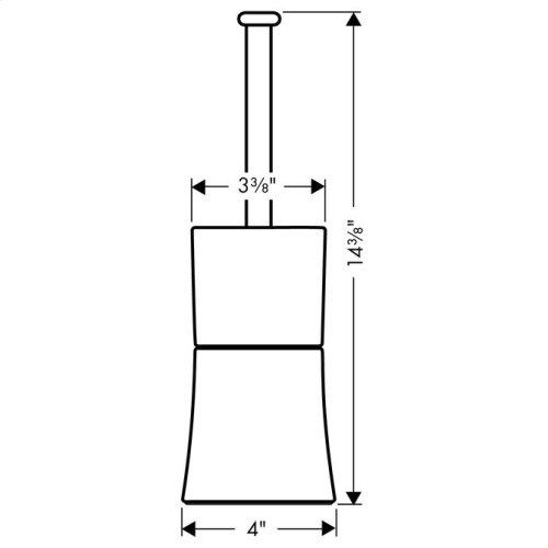 Chrome Toilet brush holder floor-standing