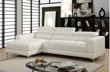 Samuel White Bonded Leather Sectional