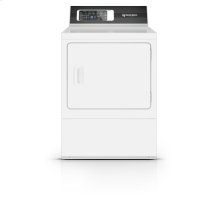 27 Inch Gas Dryer with 7 Preset Cycles, White