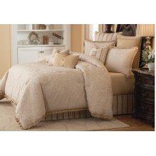 9 pc Queen Comforter Set Ivory
