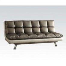 Silver Black Adjustable Sofa