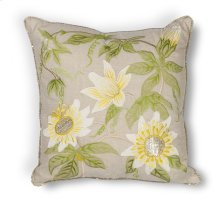 """L193 Taupe Sunflowers Pillow 18"""" X 18"""""""