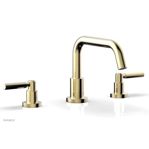 BASIC Deck Tub Set - Lever Handles D1132D - Polished Brass Uncoated