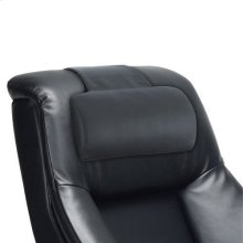 Mandal Cervical Pillow in Black Top Grain Leather