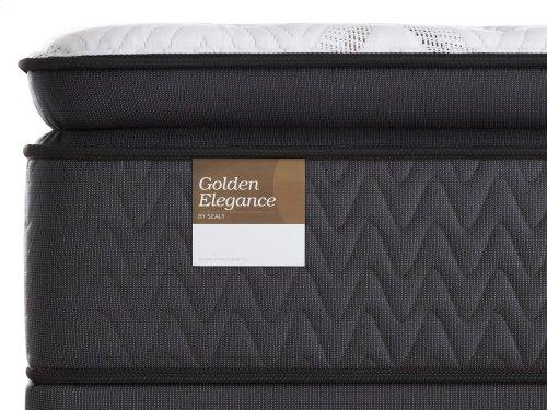 Golden Elegance - Mannered Gold - Euro Pillow Top - Plush - Twin