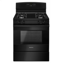 30-inch Gas Range with Self-Clean Option - Black