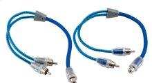Dual twist Y-Adapter 2 male 1 female