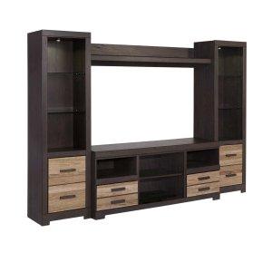 Ashley Furniture Harlinton - Two-Tone 4 Piece Entertainment Set