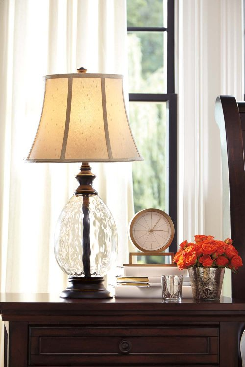 L440234  Glass Table Lamp (2/CN)