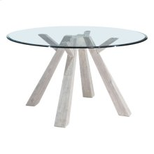 Beaumont Glass Round Dining Table Sun Drenched Acacia
