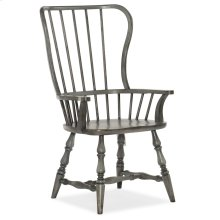 Dining Room Ciao Bella Spindle Back Arm Chair- Speckled Gray