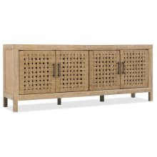 Home Entertainment Wabi Sabi 76in Woven Door Entertainment Console