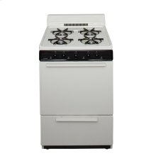 24 in. Freestanding Battery-Generated Spark Ignition Gas Range in Biscuit