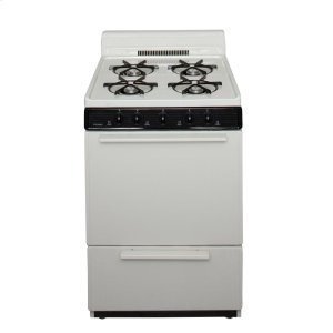 Premier24 in. Freestanding Battery-Generated Spark Ignition Gas Range in Biscuit