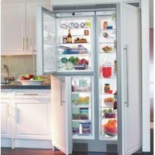 "24"" Built-in BioFresh Refrigerator & Freezer Premium, NoFrost ~ BioFresh Refrigerator & Freezer, stainless steel finish"