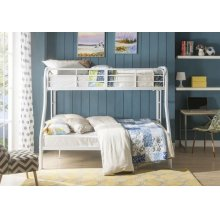 WHITE T/F BUNKBED KD VERSION