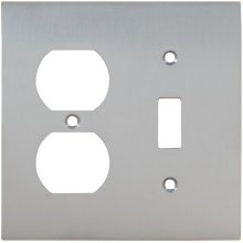 Combination Modern Switchplate in (US26D Satin Chrome Plated)