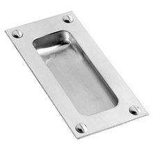 "Polished Nickel Flush pull, 3"" x 1 1/2"""
