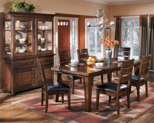 Larchmont - Burnished Dark Brown 2 Piece Dining Room Set