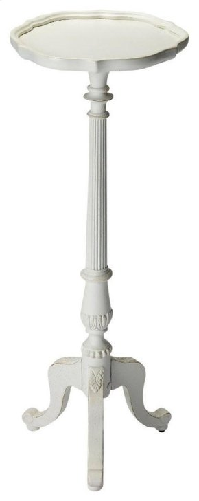 This Cottage White Pedestal Plant Stand is a stylish and decorative piece of furniture. This plant stand has a sleek, curvy design, which makes it look outstanding. It is an ideal choice for a transitional home setting.