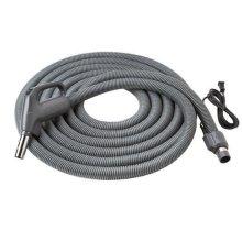 "Current-Carrying Crushproof hose, Central Vacs, 30 feet long x 1-3/8"" inner hose diameter in Dark Gray"