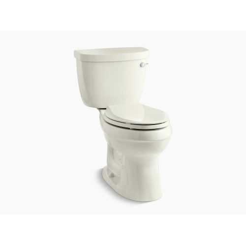 Biscuit Comfort Height Two-piece Elongated 1.28 Gpf Toilet With Aquapiston Flushing Technology, Right-hand Trip Lever and Tank Cover Locks, Seat Not Included