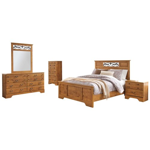 Bittersweet - Light Brown 6 Piece Bedroom Set