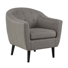 Klorey Accent Chair, Charcoal