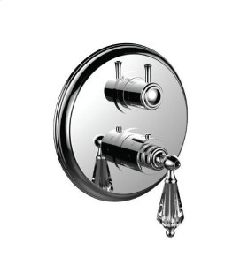 "1/2"" Thermostatic Trim With 3-way Diverter Trim (shared Function) in Polished Nickel"