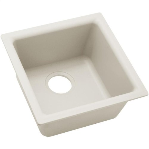 "Elkay Quartz Luxe 15-3/4"" x 15-3/4"" x 7-11/16"", Single Bowl Dual Mount Bar Sink"