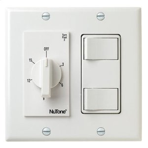 Broan15 Min. Timer/2 On/Off Switches (White)