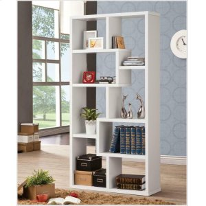CoasterCasual White Bookcase