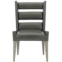Ryder Leather Dining Side Chair in Weathered Greige