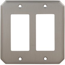 Double Rocker Traditional Switchplate in (US15 Satin Nickel Plated, Lacquered)