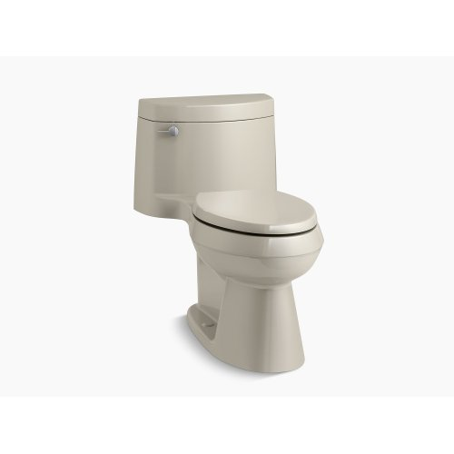 Sandbar Comfort Height One-piece Elongated 1.28 Gpf Toilet With Aquapiston Flush Technology, Left-hand Trip Lever and Concealed Trapway