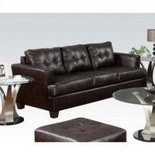 Brown Bonded Leather Sofa