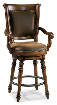 Bar and Game Room Waverly Place Return Memory Swivel Counter Stool