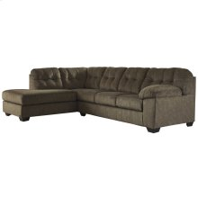 Signature Design by Ashley Accrington 2-Piece Right Side Facing Sofa Sectional in Earth Microfiber