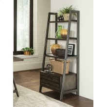 Deponte Weathered Gunmetal Tapering Bookcase